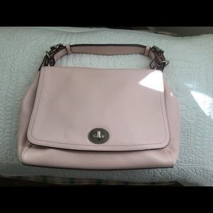 New powder pink coach bag